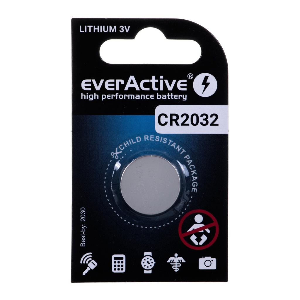 Lithium battery mini everActive CR2032