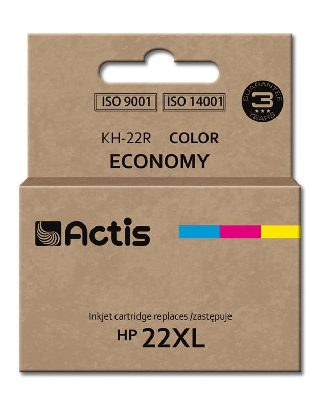 Actis KH-22R colour ink cartridge for HP printer (HP 22XL C9352A replacement)