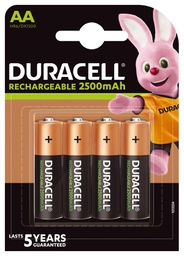 [5000394057203] Duracell HR6 AA 4-pack Rechargeable battery Nickel-Metal Hydride (NiMH)