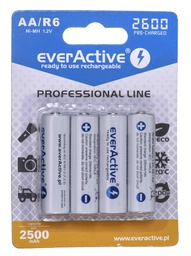 [5902020523383] Rechargeable batteries everActive Ni-MH R6 AA 2600 mAh Professional Line
