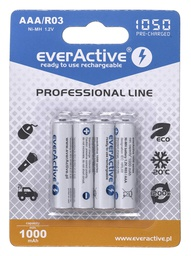 [5902020523376] Rechargeable batteries everActive Ni-MH R03 AAA 1050 mAh Professional Line