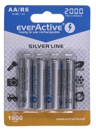 [5902020523642] Rechargeable batteries everActive Ni-MH R6 AA 2000 mAh Silver Line