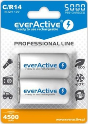 [5902020523390] Rechargeable batteries everActive Ni-MH R14 C 5000 mAh Professional Line